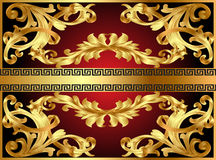 Background with gold pattern Royalty Free Stock Image