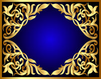 Background with gold pattern Stock Photo