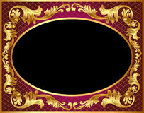 Background with gold pattern vector illustration