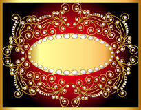 Background with gold by pattern Stock Images