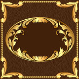 Background with gold pattern Stock Image