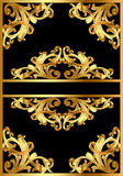 Background with gold pattern on black Royalty Free Stock Photography