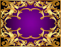 Background with gold  pattern and revenge for text Stock Photography