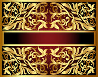 Background with gold pattern and revenge for text Stock Photo