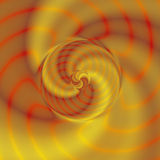Background of gold, red and orange rotating spirals Royalty Free Stock Photo