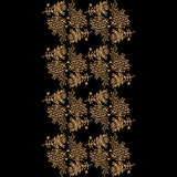 Background with gold silhouette of rowanberry and leaves. Decorative vector black background with gold silhouette of elements of Khokhloma painting royalty free illustration