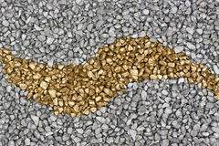 Background gold silver. Gold and silver nuggets ideal background for noble motives Royalty Free Stock Image