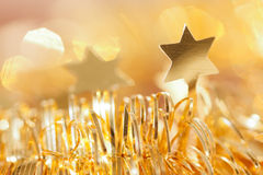 Background in gold with star Stock Photos
