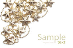 Background with gold stars Stock Images