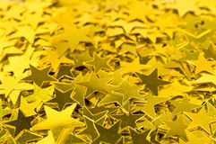 Background with gold stars. Christmas decorations background with gold stars Royalty Free Stock Photo
