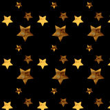 Background with gold stars. Pattern stars Royalty Free Illustration