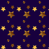 Background with gold stars. Pattern stars Stock Illustration