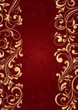 Background with gold vertical pattern Royalty Free Stock Images