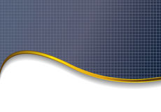 Background with gold wave Stock Images