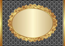 Background. With golden, antique frame Stock Image