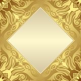 Background. Golden background with floral ornaments Royalty Free Stock Photo