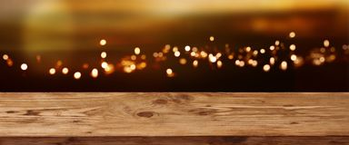 Background with golden bokeh for a festive decoration royalty free stock photos