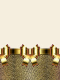 Background with golden bow. Golden bow background with copy space Stock Photography