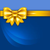 Background with golden bow Royalty Free Stock Images