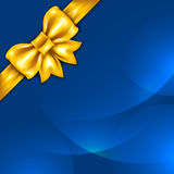 Background with golden bow Stock Photography