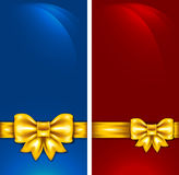 Background with golden bow. Universal background with golden bow Stock Image