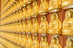 Background of golden buddha statue Royalty Free Stock Photo