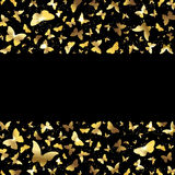 Background with golden butterflies Royalty Free Stock Photography