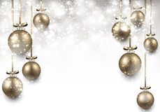 Background with golden christmas balls. Abstrac background with golden christmas balls. Vector illustration Stock Images
