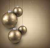 Background with golden christmas balls. Stock Image