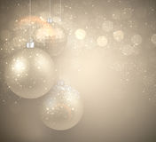 Background with golden christmas balls. Royalty Free Stock Photography