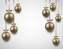 Background with golden christmas balls Royalty Free Stock Photo
