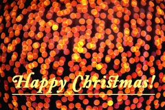 Background of Golden Christmas Lights Bokeh with Text Royalty Free Stock Photo