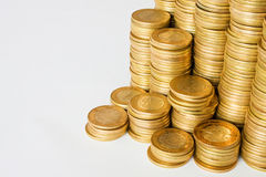 Background of golden coins Stock Photos