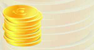 Background with golden coins. Stock Photos