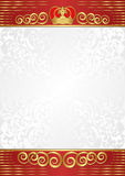 Background. With golden crown and ornaments Royalty Free Stock Images