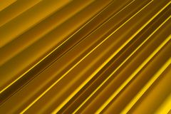 Background of golden 3d abstract waves. Render Royalty Free Stock Photo