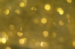Background of golden defocus bokeh lights Stock Image