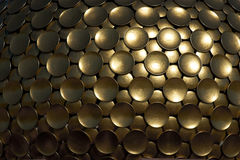 Background of golden discs. royalty free stock images