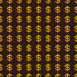 Background with golden dollar signs Stock Image