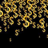 Background with golden dollars Royalty Free Stock Image