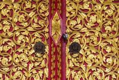 Background of golden door Stock Image