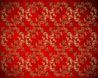 Background with golden floral decoration Stock Image