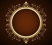 Background. Golden floral frame- creative design elements Royalty Free Stock Photos