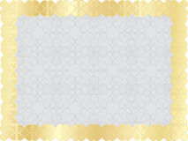 Background with golden frame. Gray abstract  background with golden frame Stock Photos
