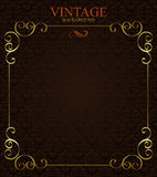Background with golden  frame Stock Images
