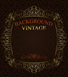 Background with golden  frame Royalty Free Stock Photography