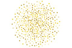 Background with Golden glitter, confetti. Gold polka dots, circles, round. Bright festive, festival pattern. Vector illustration. Background with Golden glitter Royalty Free Stock Photos