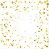 Background with Golden glitter, confetti. Gold polka dots, circles, round. Bright festive, festival pattern Vector illustration. Background with Golden glitter Royalty Free Stock Images