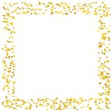 Background with Golden glitter, confetti. Gold polka dots, circles, round. Bright festive, festival pattern Vector illustration Royalty Free Stock Photo