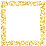 Background with Golden glitter, confetti. Gold polka dots, circles, round. Bright festive, festival pattern Vector illustration. Background with Golden glitter Royalty Free Stock Photos